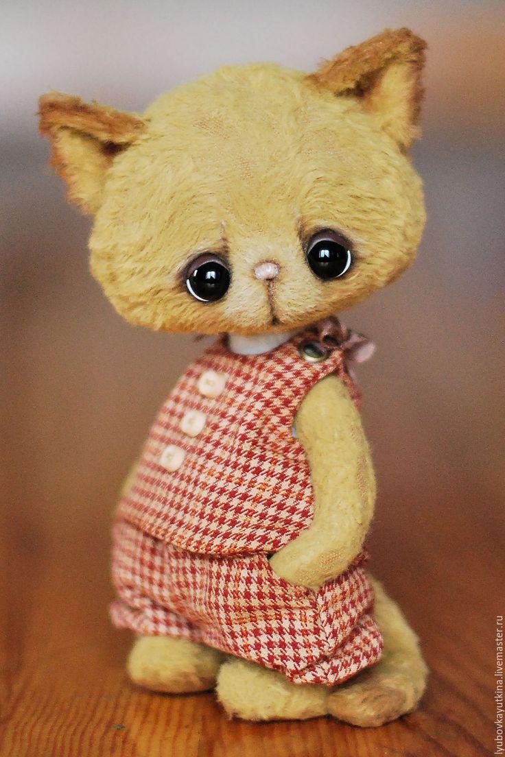 Cute teddy toy Cat / Купить Китти - рыжий, кошка, кошка игрушка, кошка тедди, кошечка, кошечки, Кошки, тедди