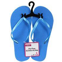 Bulk Ladies' Blue Pearlized Strap Flip-Flops at DollarTree.com