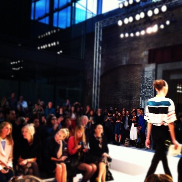 Fabulous stripes hit the catwalk. #lfw #paulsmith