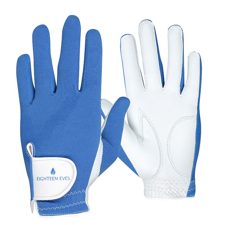 This ladies golf glove is fashioneered with a flexible back, allowing your grip to form easily. The palm is made from soft Cabretta leather that acts like a second skin, giving your hands enough protection without compromising the connection of your swing. Material: Cabretta Leather with Lycra Back Style: Be Bold Blue Hand: Left and right Size: XS – XL