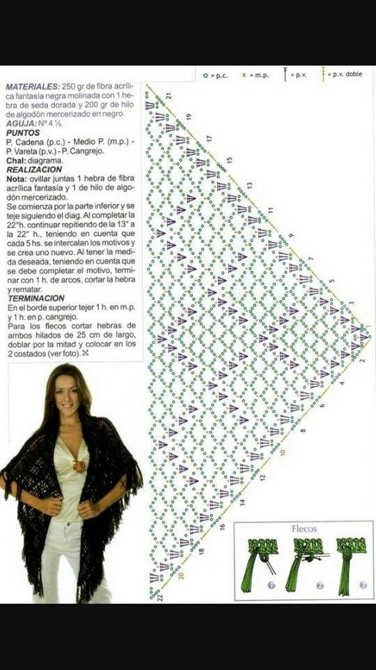 Mejores 238 imágenes de crochet en Pinterest | Patrones de ganchillo ...