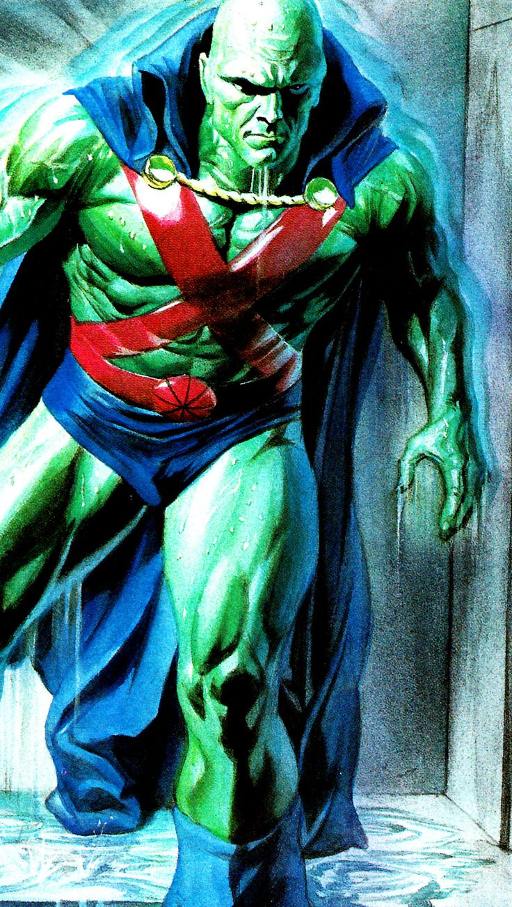 """Martian Manhunter by Alex Ross ❤❦♪♫Thanks, Pinterest Pinners, for stopping by, viewing, re-pinning, & following my boards. Have a beautiful day! ^..^ and """"Feel free to share on Pinterest. #fashionupdates ❤❦♪♫!♥✿´¯`*•.¸¸✿♥✿´♥✿´¯`*•.¸¸✿♥✿´¯`♡♥♡♥"""