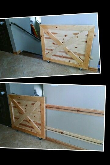 Rustic Baby Dog Gate Babygate Doggate Rusticdoor