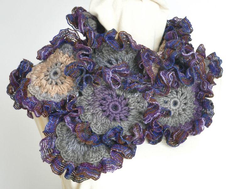 71 besten Crochet Scarf Bilder auf Pinterest | Etsy, Schattierungen ...