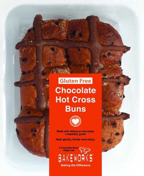 Check out Bakeworks CHOCOLATE Hot Cross Buns - they're gluten free and dairy free and taste so good! Also available in a more traditional fruit version