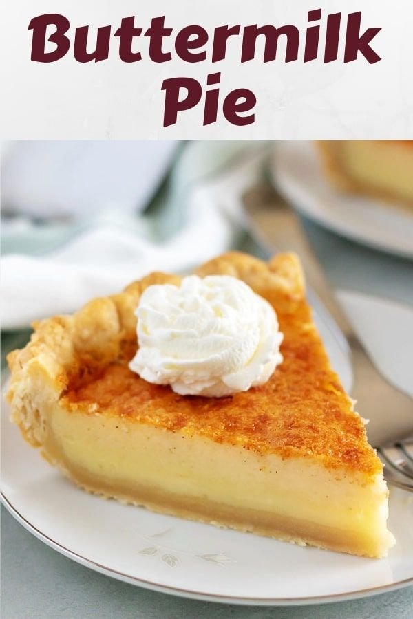 Easy Buttermilk Pie Recipe Buttermilk Pie Recipe Buttermilk Recipes Buttermilk Pie