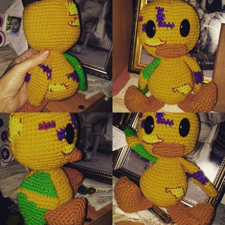 Little Zombie Duck Amigurumi  #crochet #amigurumi #yarnaddict #handcraft #ganchillo #häkeln #haken #virka #háckování #heklati #virkkaus #hekle #hækling #horgolás #instacrochet #handmade #crochetaddict #zombie #zombieduck by dianaqueenie