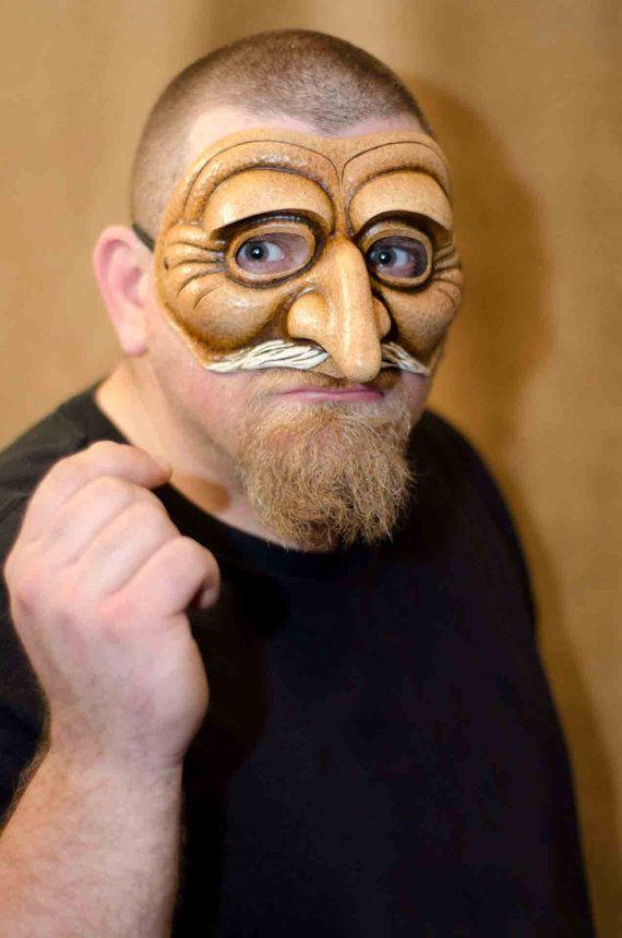 Commedia Dell Arte Pantaloon Mask by Piratemask on Etsy