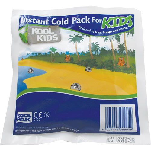 Kool Kids Instant Ice Packs - possible to apply without a cover?