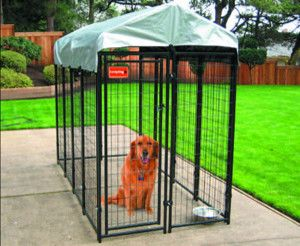 """Lucky Dog """"Uptown"""" Kennel, 8'L x 4'W x 6'H traditional pet care"""