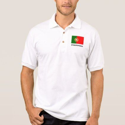 #women - #Portugal flag custom polo shirts for men and women