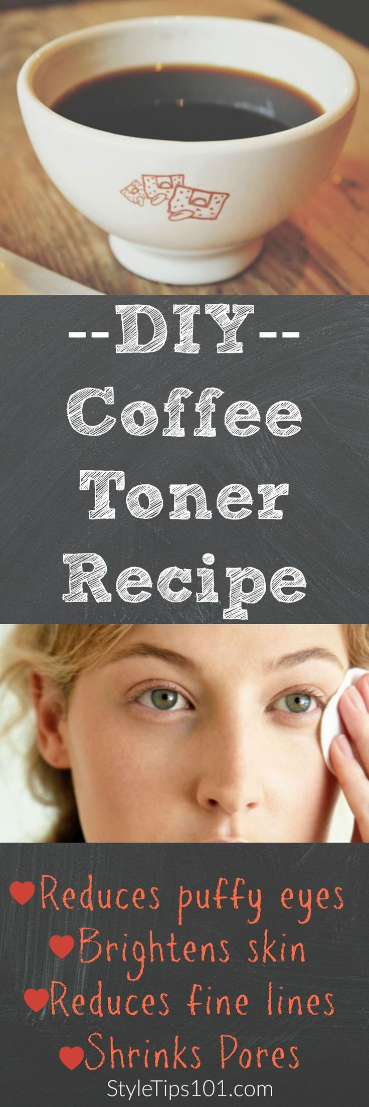 Cold coffee can reduce puffiness and brighten skin! via @styletips1o1