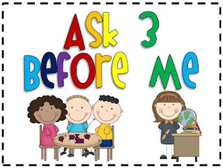 3rd Grade Thoughts: Quick Management Tip: Ask 3 Before Me (Repost)