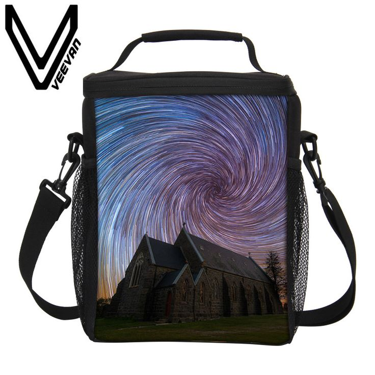 VEEVANV Brand 2017 Starry Sky Pattern 3D PU Thermal Insulated Lunch Bags Small Cooler Picnic Food Bags Fashion Storage Lunch Bag