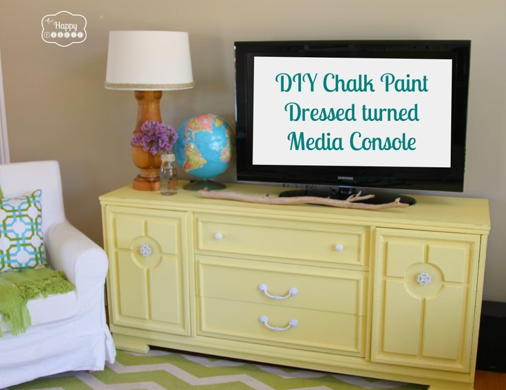 Lightening Up the Living Room with a DIY Chalk Paint Dresser turned Media  Console
