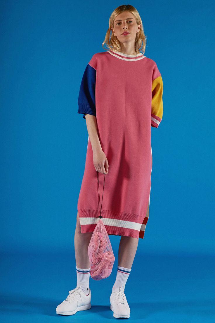 ADER PINK WORLD #ader#adererror#pink#world#image#lookbook#knitwear#onepiece