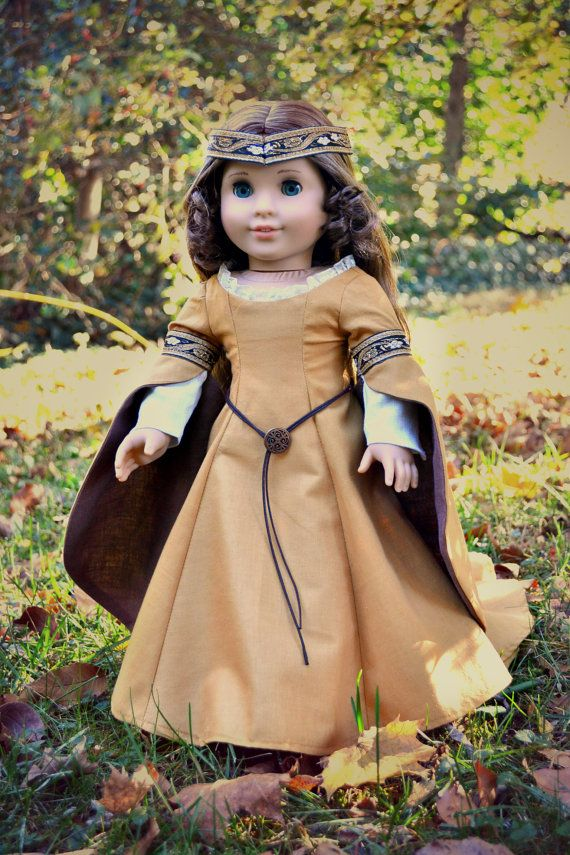 Medieval Gown Elven Princess for American Girl by PemberleyThreads on Etsy $57.00. Sold, so dbo.