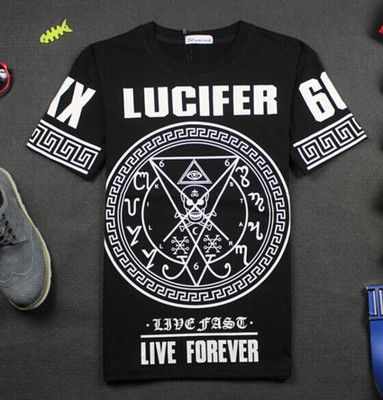 2016 Men Tees Hiphop Misbhv Pentastar Lucifer Baseball Hip Hop Clothing Hood By…
