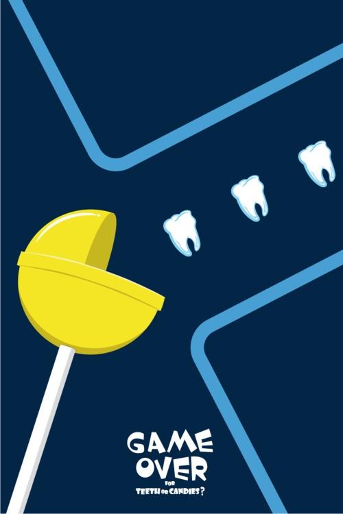 Game over for teeth or candies? ¿Se acabó el juego para los dientes o los caramelos? © iohnn
