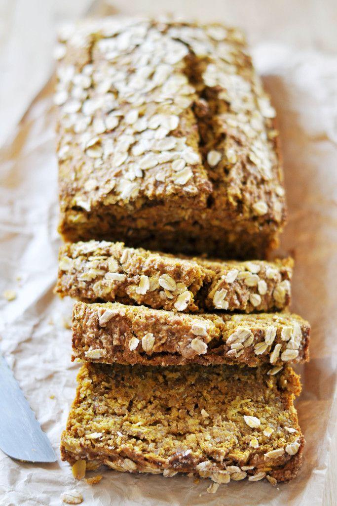 Vegan Quinoa-Oat Pumpkin Bread - The Colorful Kitchen
