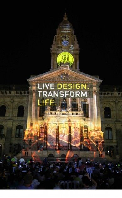 Light show at the City Hall in Cape Town | Photos: Supplied by World Design Capital Cape Town 2014