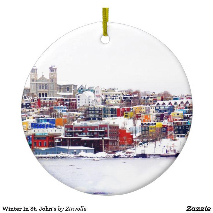 Winter In St. John's Ceramic Ornament