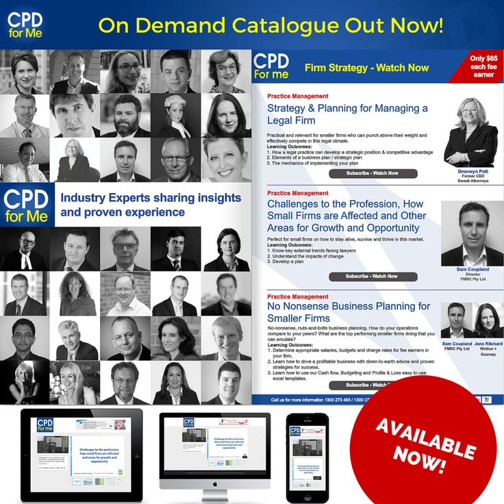 #CPDforMe2016 On-Demand Sessions Available - Watch Now 45+ Premium Authors - Mandatory Subjects from $35 a unit