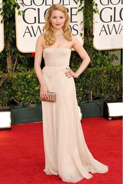 Diana Agron in J.Mendel (Golden Globes, 2011)