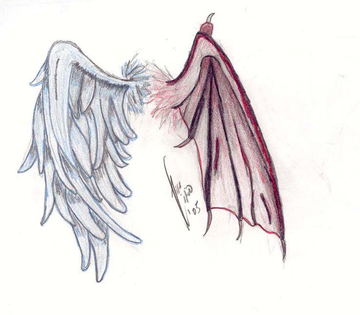 Картинки с крыльями ангела и демона