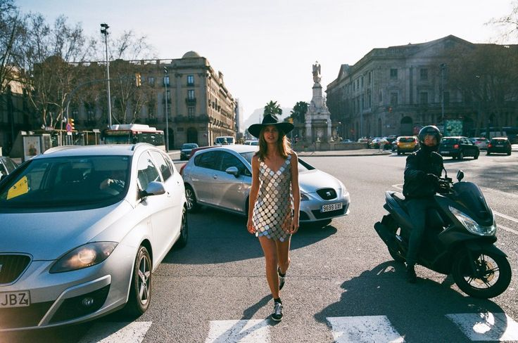 AkilaBerjaoui,Lauren & Nadia hit the pavement and captured the beauty of a sunny Winter's afternoon in Barcelona, Spain.   Photography: Akila Berjaoui    Model: Lauren Auerbach @ Uno Models   Styling: Nadia Benedicte Pape aka Los FelizShop        SHOP BARCELONA EDIT HERE