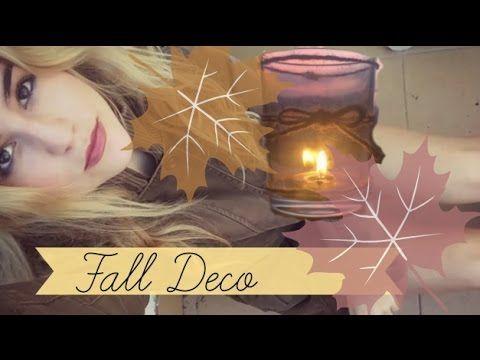 Deco FALL DIY velas Ideas para la decoración de otoño