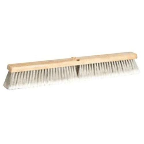 "DQB 10652 Synthetic Push Broom, 18"", Gray"