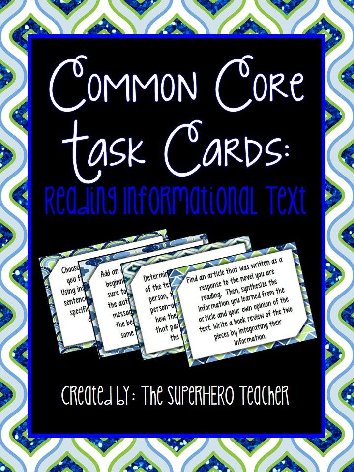 Common Core Task Cards: Reading Informational Text for grades 9-12! $