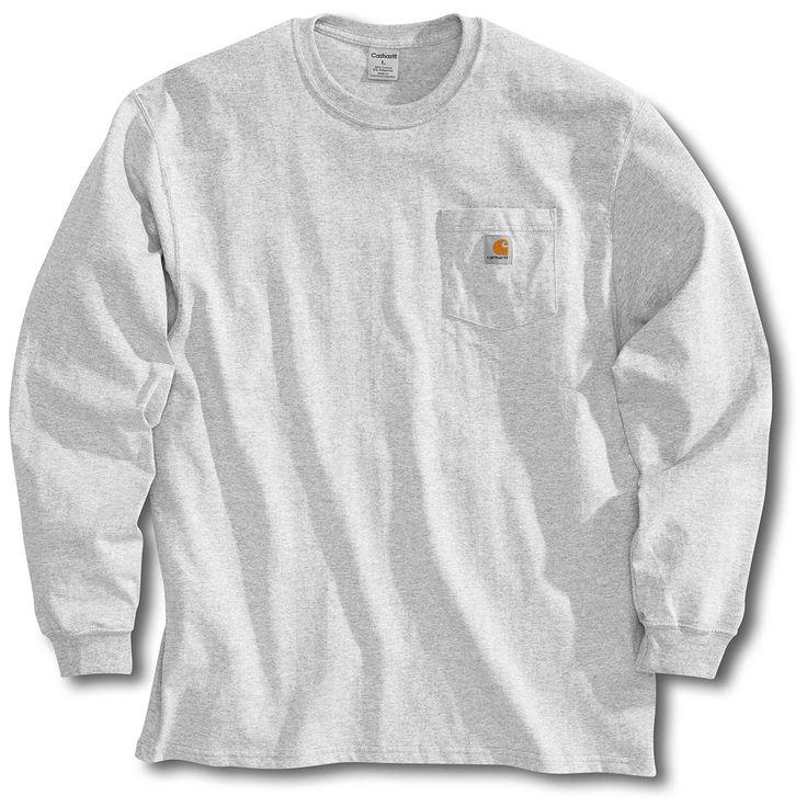 Men's Carhartt® Workwear Long-sleeve Pocket T-shirt, Ash