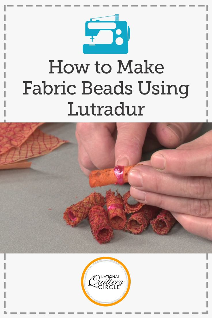 Heather Thomas teaches you how to make free lace fabric beads for your next quilting project using lutradur. The melted fabric can add a unique textural component to your piece. All you'll need for this little technique are a dowel rod, lutradur, stitching, and a heat gun.