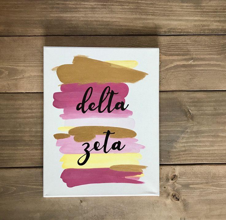Sorority Washed Canvas - Delta Zeta, Alpha Sigma Alpha, Kappa Delta, TriColor by ArtsyMartzy on Etsy https://www.etsy.com/listing/494668627/sorority-washed-canvas-tricolor