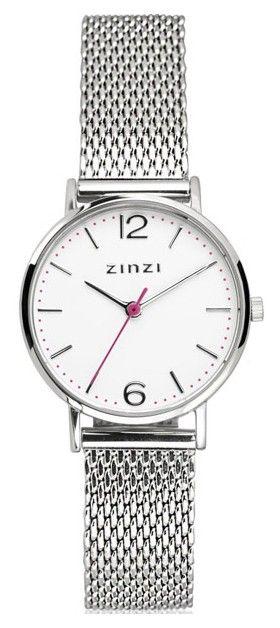 Zinzi horloge Lady + Gratis Armband t.w. van 29 euro ZIW606M. Zinzi horloge, model 'Lady' met gratis zilveren armbandje. Het nieuwe 'Lady' model is sportief, trendy en tijdloos tegelijk. Geïnspireerd op de 'Seventies', maar met de bekende Zinzi touch ontworpen. De stalen kast met een doorsnede van slechts 28 mm heeft een witte wijzerplaat met zilverkleurige index en wijzers. De meshband sluit door middel van een klepsluiting.