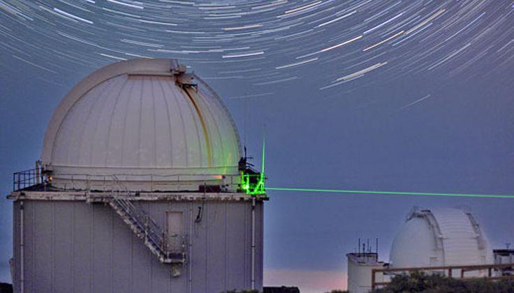 A quantum teleportation experiment in action. (Credit: IQOQI/Vienna)