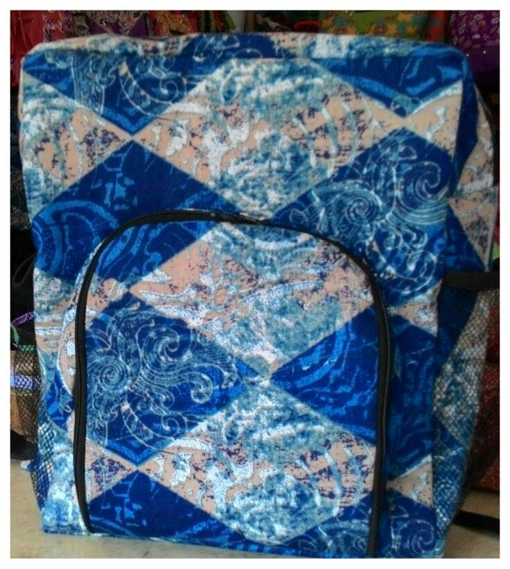 School.bag with batik colours...handmade from indonesia