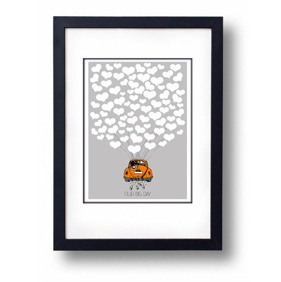 Personalised Coloured VW Love Bug Beetle by mammothcreativeworks