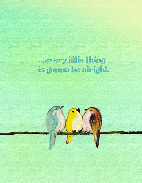 "ideas for my collage- my fave song... Especially when in the Bahamas finding Sea Glass... ""Three Little Birds"" (via Etsy).  Three Little Birds by SaltandLightStudios on Etsy, $10.00"