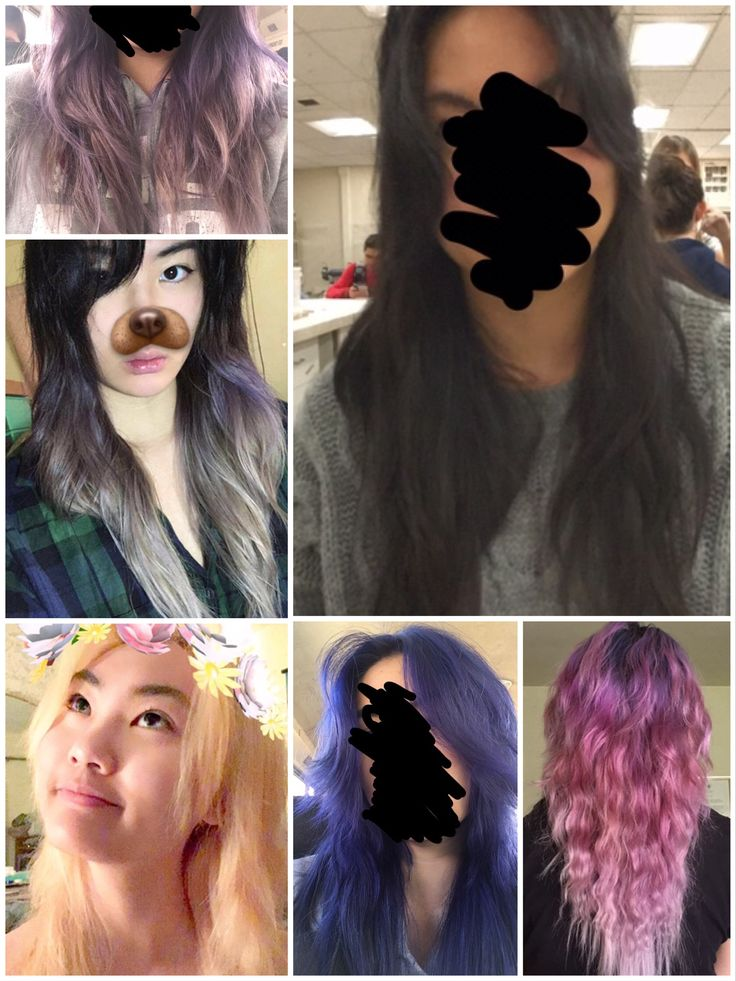 My DIY hair (fail) over the course of three months. I was aiming for silver...