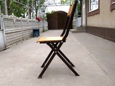Складной стул своими руками - YouTube