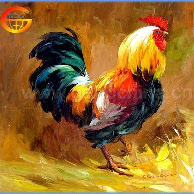 Resultado de imagen para pinturas de gallos al oleo