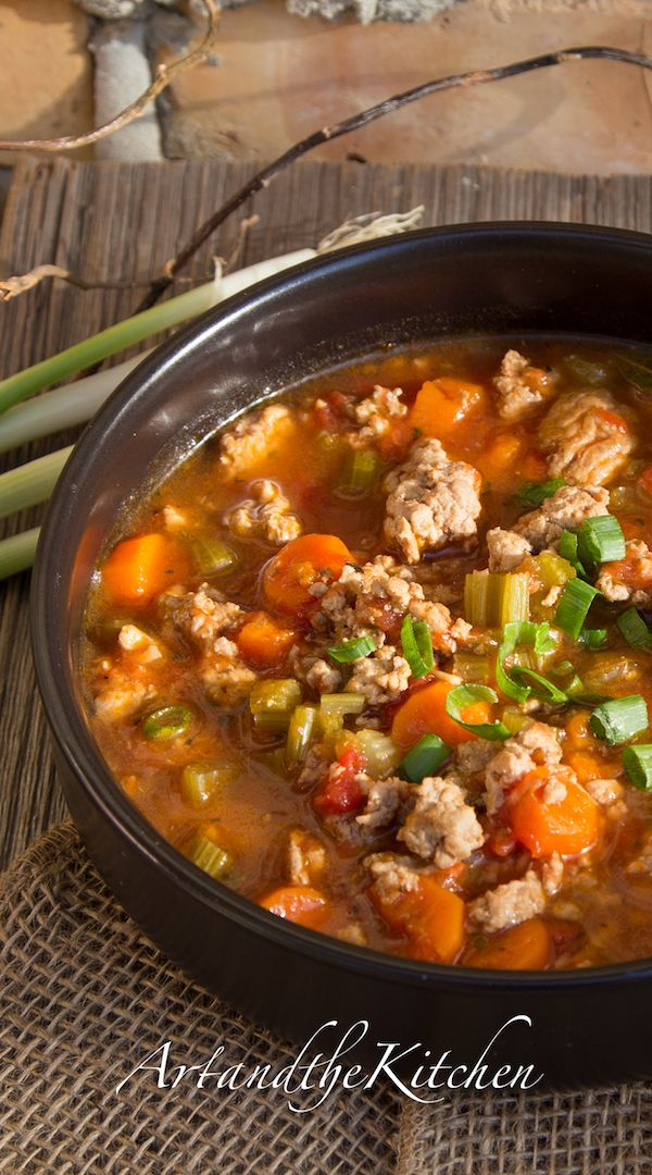 ArtandtheKitchen: Italian Turkey Burger Soup...sounds delicious, healthy, and easy for a cold day :)
