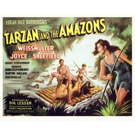 Tarzan And The Amazons Canvas Art