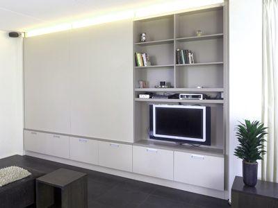 Het Wandmeubel Is Voorzien Van Een Handige Vakverdeling Rozenhout Meubels Op Maat Utrecht Home Living RoomEntertainment