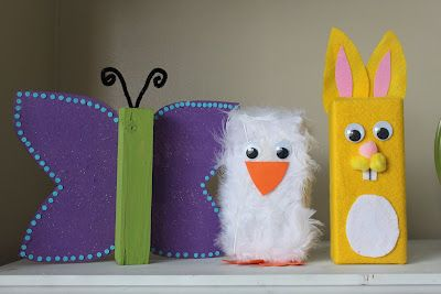 Keeping it simple: 2x4 spring animals.  So cute!
