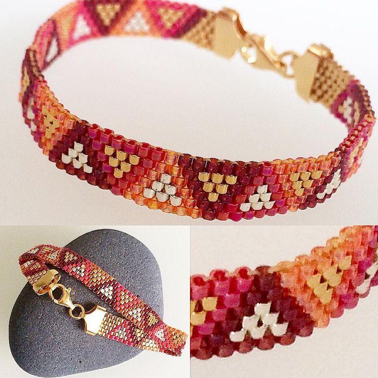 Bracelet miyuki 11/0 ❤️❤️opale red / orange / gold / Silver / wine gold #hipsterstyle #hipsterswag #hipster #fashionwoman #beautiful #beads #beadsjewelry #beadshandmade #tendance #in #danslevent #bijouxcreateur #braceletrouge #fabriquéenfrance #southoffrance #tissageperles #tissagepeyote #tissageperlesmiyuki #bellescouleurs #faitpourvous #diy #diyjewelry #handmadeforyou #handmadejewelry #handmadewithlove ❤️