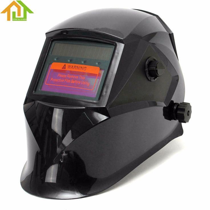 1 PCS Pro Solar Electric Welder Mask Auto-Darkening Welding Helmet Lens Grinding Welding Face Mask Cap for Welding Machine